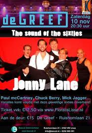 Jaren zestig band, coverband sixties Jonny Lane live in Lisse
